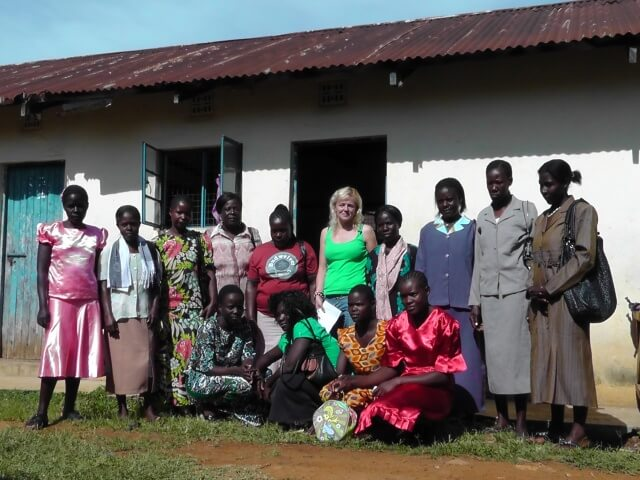 Karin in the middle with group.