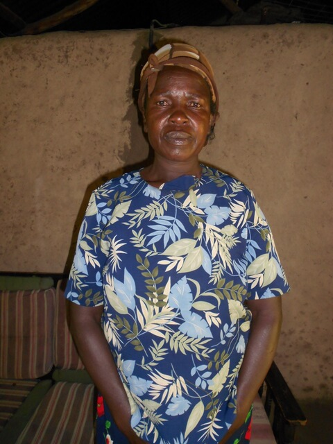 Agnes Chitiri. Chairlady of Namulekuwa Women