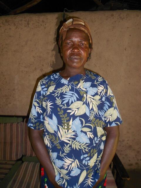 Agnes Chitiri. Chairlady of Namulekuwa Women