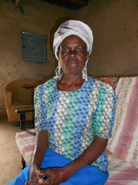 Beatrice Rapongo. Chairlady of Emukhalari O.V.C