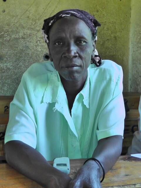 Emily Otsiambo. Chairlady of St Anne's Mahola Women