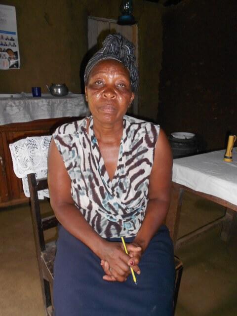Hellen Olando. Chairlady of Khunyiri Jeshi