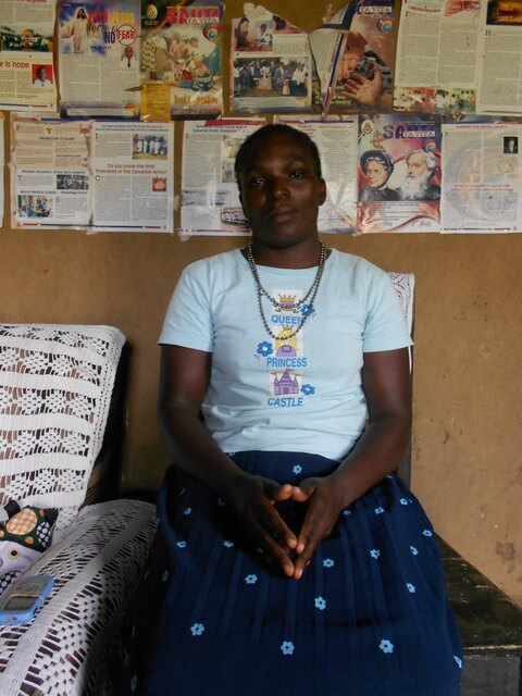Mary Omwaka. Chairlady of Msamaria