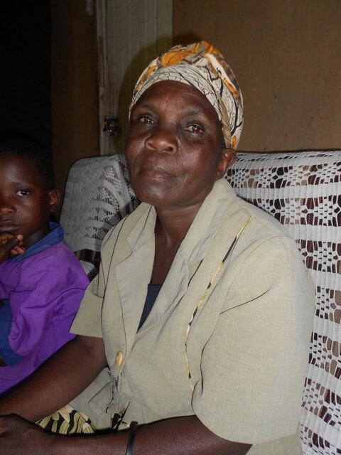 Sophia Atembo. Chairlady of Khunyiri Orphans Women