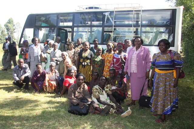 Women visiting Kitale maize co-operative