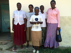 Tailoring team (from left): Jane, Jescah, Lucy, Judith and Mwanarabu